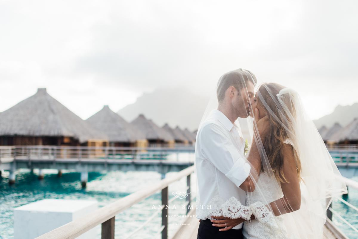 Lucie Riccardo St Regis Bora Bora Wedding French